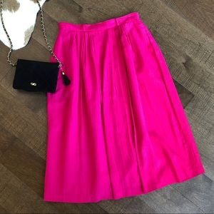 Vintage highwaist pink maxi skirt; 12P